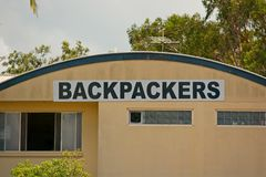 Backpackers - low cost accommodation for tourists. Backpackers is a low cost accommodation for tourist on a small budget royalty free stock photography