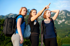 Backpackers in nature Stock Image
