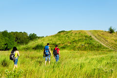 Backpackers travelling Royalty Free Stock Photo