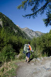 Backpacking stock images