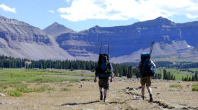 Backpacking Royalty Free Stock Photos