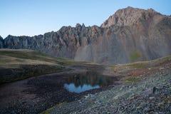 Backpacking around Blue Lakes in Colorado`s San Juan Mountains