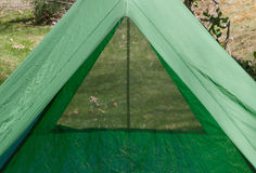 Backpacking Camping Tent View Royalty Free Stock Photography