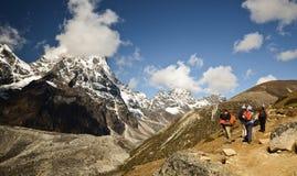 Backpacking da montanha Foto de Stock