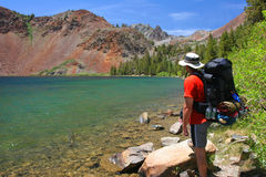 Backpacking em Yosemite Fotografia de Stock