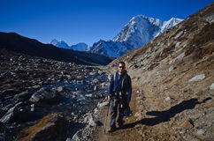 Backpacking in the Himalaya Royalty Free Stock Photography
