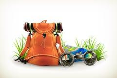 Backpacking illustration Royalty Free Stock Photography