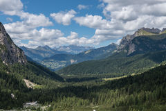Backpacking in the italian dolomites Royalty Free Stock Photo