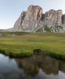 Backpacking in the italian dolomites Stock Images