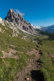 Backpacking in the italian dolomites Royalty Free Stock Image