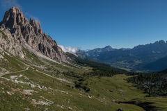 Backpacking in the italian dolomites Royalty Free Stock Photography
