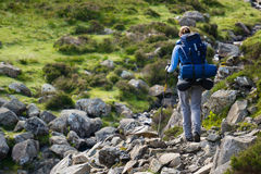Backpacking in the Lake District. Royalty Free Stock Photos