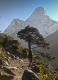 Backpacking in Nepal Royalty Free Stock Photo