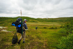 Backpacking in Norway Stock Images