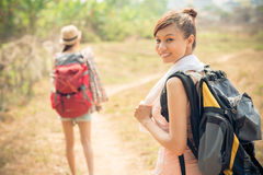 Backpacking Stock Photo