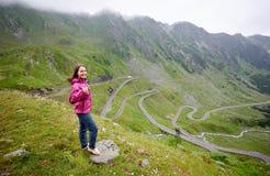 Backpacking in Romania Transfagarasan road scenery royalty free stock image
