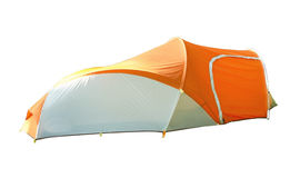 Backpacking tent isolated on white background. Stock Image