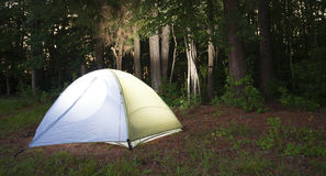 Backpacking tent Stock Image
