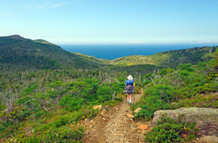Backpacking to the Ocean Stock Images