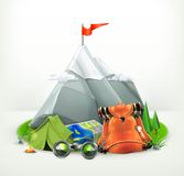 Backpacking vector illustration Royalty Free Stock Photography