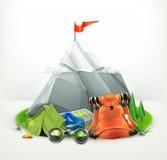 Backpacking vector illustration vector illustration