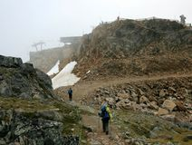 Backpacking Whistler Mountain Stock Photography