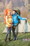 backpacks соединяют hiking стоковое изображение