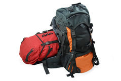 backpacks τουρίστας δύο Στοκ Εικόνες