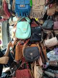 Backpacks and bags royalty free stock photos