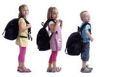 backpacks childeren рядок стоковые изображения