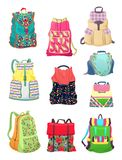 Backpacks for girls Stock Image