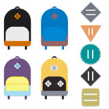 Backpacks and lash tabs Stock Photography