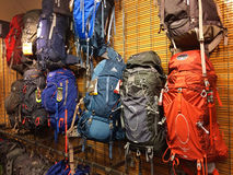 Backpacks REI Eugene, OR Stock Photo
