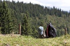 Backpacks - RAW format Stock Photo