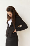 Backpain of female business executive Stock Photos