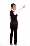 Backpose of pointing businesswoman Stock Images