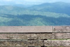 Backrest in the Mountain View in Thailand. Popular holiday destinations in the winter Royalty Free Stock Images