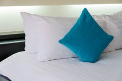 Backrest pillow and pillow on bed. In modern bedroom Stock Photo