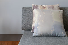 Backrest pillow on sofa. In living room Royalty Free Stock Images