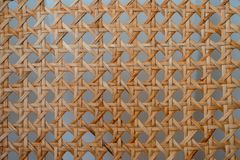 Backrest wicker chair, geometric shapes stock image
