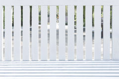 Backrest of wooden chairs. The backrest of white wooden chairs Stock Photography