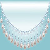 Backrground with pearls Royalty Free Stock Images