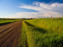 Backroad Afternoon. A beautiful, sunny day on a prairie backroad stock photography