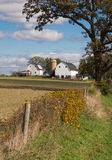 Backroad Farm. A nice view of a farm along a country road in Wisconsin on an Autumn day royalty free stock photography