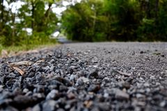 Backroad gravel. Gravel on an old road in the country royalty free stock photos