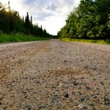 Backroad. In Itasca county Minnesota royalty free stock photo