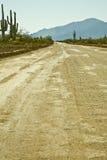 backroad w arizonie. Zdjęcia Stock