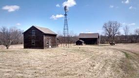 Backroads Michigan barn. Abandoned farm late 19th century Stock Photo