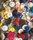 Backroud of colorful Sewing buttons Stock Images
