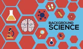 Backround科学 库存例证